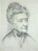 Holgate, F.A.: Mrs French Sheldon, African Traveller and Translator, signed and dated 1926, pencil on sugar paper, 25.5 x 20.3 cms.