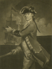 Charles or Philip Corbutt: The Rt Honorable Richard Lord Howe, mezzotint, 35 x 25 cms. Presented by Alfred A. De Pass.