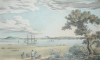 Harry, P. (19th century): Falmouth from Trefusis, publisher: Trathan, J., printer: Day, W., lithographer: West, J.B., lithograph, 36 x 49 cms.