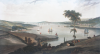 Daniell, William RA (1769-1837): View of the Town and Harbour of Falmouth and Pendennis Castle, aquatint, 42 x 69 cms.
