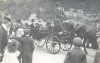 Falmouth Town Clerk, E.E. Armitage and Mayor of Falmouth, Joseph Grose in horse drawn carriage, postcard, 9 x 14 cms.