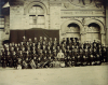 Harrison Studios: Duke of Cornwall Rifle Volunteers outside the Drill Hall, photograph, 28.5 x 38 cms.