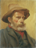 Lanyon, Miss Katherine (1862-1928): Edwin 'Neddy' Hall (1841-1909), Boatman, Custom House Quay, Falmouth, oil on board, 31 x 23.5 cms.