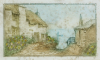 Rowbotham, Claude Hamilton (1864-1949): Granny Green's Cottage, etching, 18.5 x 23 cms. Presented by Chris Spencer.