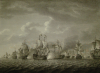 Pocock, Nicholas (1740-1821): The Battle of the Saints, West Indies 1782, engraver: Chesham, Francis, dated 1784, engraving, 51 x 62.5 cms. Presented by Alfred A. De Pass.