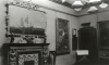 Unknown artist (19th century): Photograph of Interior of De Pass's residence - showing 'Pandora' by J.W.Waterhouse, Cliffe House, Falmouth, photograph, 10.5 x 15 cms. Presented by Catherine Wallace.