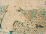 Unknown artist (19th century): Map of Falmouth Haven, Pen and ink and colour wash, 57 x 73 cms.