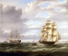 Buttersworth, Thomas (1768-1842): Two ships, oil on canvas, 63.5 x 76.2 cms. Presented by De Pass, Alfred A.