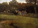Richardson, John Thomas (1860-1942): Cottage near Marlborough, Falmouth, signed and dated 1913, oil on canvas, 46 x 60.5 cms.