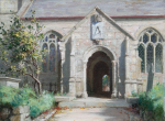 Holgate, Thomas Wood 1869-1954: Constantine Church, signed, oil on board, 25 x 34.5 cms.