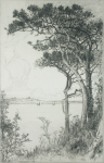 Goolden, Fred W. (fl.1908-1918): View of Pendennis from Pennance Point, signed and dated 1918, inscribed signed and dated on plate and signed in pencil, etching, 21 cms x 13.7 cms.