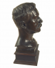Pegram, Henry Alfred (1863-1937): Bust of Henry Scott Tuke RA RWS, signed and dated 1912, bronze, 50 cms high.