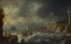 Peeters, Bonaventura the elder (1614-1652): A Port in the Mediterranean, oil on canvas, 26 x 39.4 cms. Presented by De Pass, Alfred A.