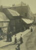 Unknown artist: Market Street about 1900, photograph, 21 x 15.5 cms.
