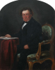 Unknown artist (19th century): Portrait of John Samuel Enys (1796-1872), oil on card, 31.8 x 26.5 cms. Presented by Mrs S.Sara in 1925.