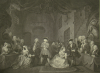 Hogarth, William (1697-1764): Beggar's Opera, Act III, 'When my hero in Court appears'., dated 1790, engraving, 49.5 x 62 cms. Presented to the Corporation of Falmouth in 1927 by Alfred A. De Pass, in memory of his sons.