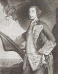 Reynolds, Sir Joshua PRA (1723-1792): Sir George Brydges Rodney, Rear Admiral of the Blue, publisher: Bowles, Carrington, mezzotint, 36 x 26.8 cms. Presented by Alfred A. De Pass.