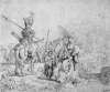 Rembrandt, Harmensz van Rijn (1606-1669): The Baptism of the Eunoch, signed and dated 1641, etching, 18.5 x 21.4 cms. Presented to the Corporation of Falmouth in 1923 by Alfred A. de Pass, in memory of his sons.