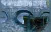 Sully, Frank: Le Pont Neuf, Paris, signed and dated 1923, pastel on paper, 33 x 55 cms. Adopted by Sully's Picture Framing.