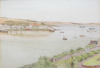 Pryce, Thomas H.J. (fl.1919): Flushing from Falmouth, signed and dated 1919, watercolour and pencil, 25 x 35.5 cms.