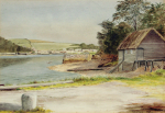 Pryce, Thomas H.J. (fl.1919): View of Creek, Flushing in the distance, signed and dated 1919, watercolour and pencil, 25.5 x 35.5 cms.