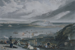 Turner, Joseph Mallord William RA (1775-1851): Falmouth Harbour, engraver: Cooke, W.B, inscribed with title and artist on plate, Line engraving, 21.6 x 27 cms.