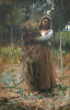 Melville, Arthur, ARSA RWS (1855-1904): The Peasant Girl (The Faggot Collector), signed and dated 1880, oil on canvas, 103 x 69 cms. Presented to the Corporation of Falmouth in 1923 by Alfred A. de Pass, in memory of his sons.