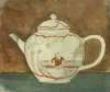 De Pass, Crispin : An Oriental teapot - Art section class 1, signed, watercolour, 14 x 16 cms. Presented by Alfred A. De Pass in 1923.