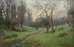 Richardson, John Thomas (1860-1942): The Orchard at Prislow, signed and dated 1910, oil on canvas, 45.5 x 71 cms. Presented to the corporation of Falmouth in 1923 by A.A. de Pass in memory of his sons.
