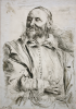 De Pass, Crispin : Portrait of a man with a beard after Sir Anthony Van Dyck (1599-1641), signed and dated 1909, ink on paper, 22 x 15.7 cms. Presented by De Pass, Alfred A.