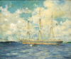 Tuke, Henry Scott, RA RWS (1858-1929): French Barque in Falmouth Bay, signed and dated 1902, oil on canvas, 50 x 60 cms. Presented by Residual Legatees of H.S.Tuke Estate.