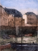 Rowbotham, Claude Hamilton (1864-1949): Customs House Quay, Falmouth, signed, coloured etching, 35 x 29 cms. Presented by Brian D.Price.