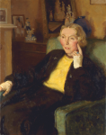 Bates, Leo Fison (1890-1957): Mrs Michael Trevethan, oil on canvas, 87 x 67.5 cms. Presented by Mrs M. Bates in 1985.