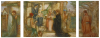 Wilmer, John Riley (1883-1941): The Adoration of the Magi - Tryptych, signed and dated 1910, watercolour and bodycolour on board, 53 x 22 cms. Presented by John Christian through The National Art Collections Fund in 1994.