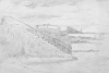 Martin, William A. (1899-1988): Sketch of steps next to the sea, pencil, 14.5 x 22.7 cms. Presented by Moss, Ruth. Bequest.