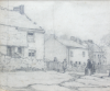 Martin, William A. (1899-1988): Village street scene with figures, pencil, 17.8 x 13.4 cms. Presented by Moss, Ruth. Bequest.