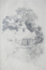 Martin, William A. (1899-1988): Farm house with path, signed, inscribed W.A. Martin, pencil, 17.6 x 25 cms. Presented by Moss, Ruth. Bequest.