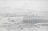 Martin, William A. (1899-1988): Harbour and sea wall, pencil, 15.6 x 23 cms. Presented by Moss, Ruth. Bequest.
