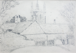 Martin, William A. (1899-1988): Perranwell Church, pencil, 12.9 x 18 cms. Presented by Moss, Ruth. Bequest.
