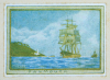 Tuke, Henry Scott, RA RWS (1858-1929): Falmouth - An envelope stamp design, inscribed Falmouth, colour print, 5.2 x 7.2 cms. Presented by Mr Neil Miners in 1997.