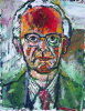 Bratby, John Randall RA (1928-1992): Portrait of Dr A.L.Rowse, signed, oil on canvas, 46 x 36 cms. Presented by the Executors of the Estate of A.L.Rowse in 1998. Bequest.