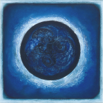 Beecroft, Jane (born 1949): Spiral Energies - the Eclipse of the Sun on 11 August 1999, signed, pastel, gouache and ink, 37.5 x 38 cms.