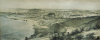 Unknown artist: View of the Falmouth Hotel & Surrounding Country from the Pendennis Castle Drive, tinted lithograph, 24 x 50.8 cms. Lent by The Cornwall Heritage Trust. Loan.