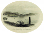 Townsend, G.: Swanpool Bay and Pendennis, publisher: Besley, H. Exeter, dated 1853 (published), engraving, 10 x 15.5 cms. Presented by Falmouth Town Council.