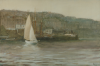 Hemy, Charles Napier RA RWS (1841-1917): Falmouth Town, signed and dated 1910, inscribed signed on reverse, watercolour, bodycolour and gouache, 47 x 69 cms. Presented by Mrs. Margaret Powell.