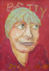 Dyson, Julian (1936-2003): Betty in red, signed and dated 2000, acrylic, 40 x 27.8 cms. Presented by Mrs Betty Dyson.