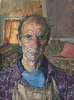 Hewlett, Francis (1930-2012): Self Portrait, signed and dated 1978 (dated on the reverse), inscribed signed on reverse with initials and dated 2.7.78, oil on canvas, 20 x 15 cms. Presented by Hine Downing Solicitors.