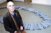 Ross, Colin (born 1954): Richard Long at Falmouth Art Gallery, 2002, 21 x 29.7 cms. Presented by Colin Ross in 2002.