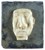 Dyson, Julian (1936-2003): Steve, signed, earthenware on slate, 23.7 x 21.8 cms. Presented by the artist in 2002.