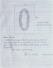 Long, Richard RA (born 1945): Letter with sketch of Ellipse, 2002, signed and dated, pencil drawing, 23 x 17.7 cms. Presented by Richard Long 30/8/2002.